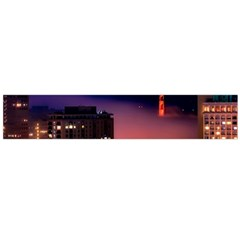 San Francisco Night Evening Lights Large Flano Scarf