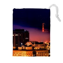 San Francisco Night Evening Lights Drawstring Pouches (extra Large)