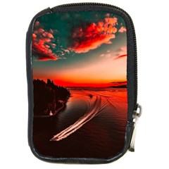 Sunset Dusk Boat Sea Ocean Water Compact Camera Cases