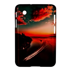 Sunset Dusk Boat Sea Ocean Water Samsung Galaxy Tab 2 (7 ) P3100 Hardshell Case