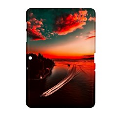 Sunset Dusk Boat Sea Ocean Water Samsung Galaxy Tab 2 (10 1 ) P5100 Hardshell Case