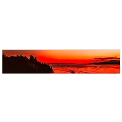 Sunset Dusk Boat Sea Ocean Water Small Flano Scarf