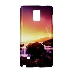California Sea Ocean Pacific Samsung Galaxy Note 4 Hardshell Case by BangZart