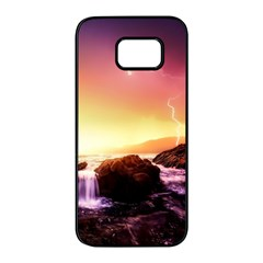 California Sea Ocean Pacific Samsung Galaxy S7 Edge Black Seamless Case by BangZart