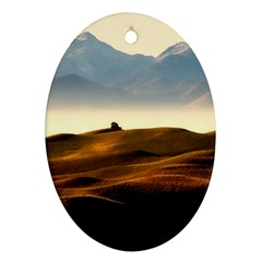 Landscape Mountains Nature Outdoors Ornament (oval)