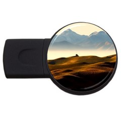 Landscape Mountains Nature Outdoors Usb Flash Drive Round (2 Gb)