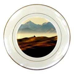 Landscape Mountains Nature Outdoors Porcelain Plates