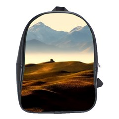Landscape Mountains Nature Outdoors School Bag (large)