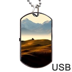 Landscape Mountains Nature Outdoors Dog Tag Usb Flash (two Sides)