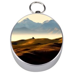 Landscape Mountains Nature Outdoors Silver Compasses
