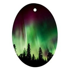 Aurora Borealis Northern Lights Ornament (oval)
