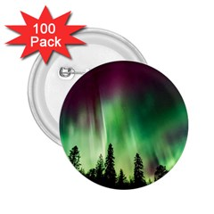 Aurora Borealis Northern Lights 2 25  Buttons (100 Pack)