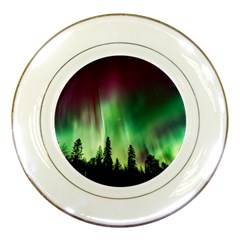 Aurora Borealis Northern Lights Porcelain Plates