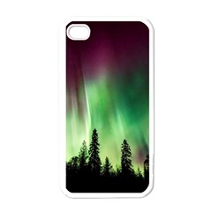 Aurora Borealis Northern Lights Apple Iphone 4 Case (white)