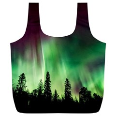 Aurora Borealis Northern Lights Full Print Recycle Bags (l)