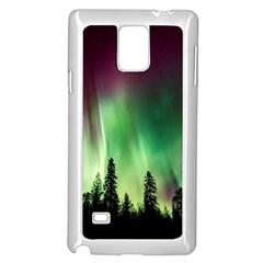 Aurora Borealis Northern Lights Samsung Galaxy Note 4 Case (white)