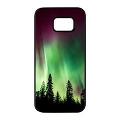 Aurora Borealis Northern Lights Samsung Galaxy S7 Edge Black Seamless Case by BangZart