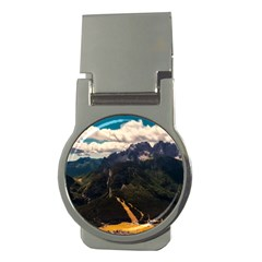 Italy Valley Canyon Mountains Sky Money Clips (round)