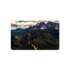 Italy Valley Canyon Mountains Sky Magnet (name Card)