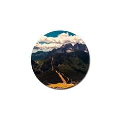 Italy Valley Canyon Mountains Sky Golf Ball Marker