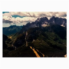 Italy Valley Canyon Mountains Sky Large Glasses Cloth