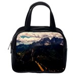 Italy Valley Canyon Mountains Sky Classic Handbags (2 Sides) Back
