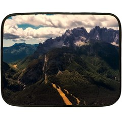 Italy Valley Canyon Mountains Sky Double Sided Fleece Blanket (mini)