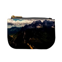 Italy Valley Canyon Mountains Sky Mini Coin Purses