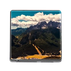 Italy Valley Canyon Mountains Sky Memory Card Reader (square)