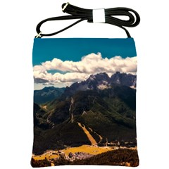 Italy Valley Canyon Mountains Sky Shoulder Sling Bags