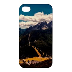 Italy Valley Canyon Mountains Sky Apple Iphone 4/4s Premium Hardshell Case