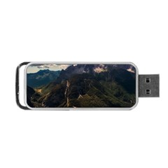 Italy Valley Canyon Mountains Sky Portable Usb Flash (two Sides)