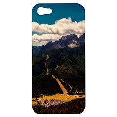 Italy Valley Canyon Mountains Sky Apple Iphone 5 Hardshell Case