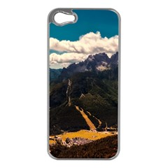 Italy Valley Canyon Mountains Sky Apple Iphone 5 Case (silver)