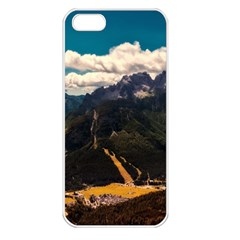 Italy Valley Canyon Mountains Sky Apple Iphone 5 Seamless Case (white)