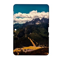 Italy Valley Canyon Mountains Sky Samsung Galaxy Tab 2 (10 1 ) P5100 Hardshell Case