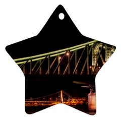 Budapest Hungary Liberty Bridge Ornament (star)