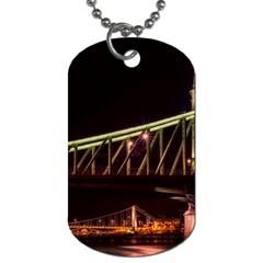 Budapest Hungary Liberty Bridge Dog Tag (two Sides)