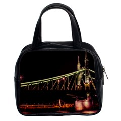 Budapest Hungary Liberty Bridge Classic Handbags (2 Sides)
