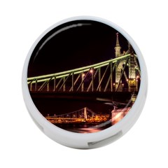 Budapest Hungary Liberty Bridge 4 Port Usb Hub (two Sides)