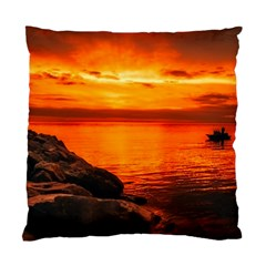Alabama Sunset Dusk Boat Fishing Standard Cushion Case (one Side)