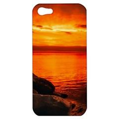 Alabama Sunset Dusk Boat Fishing Apple Iphone 5 Hardshell Case
