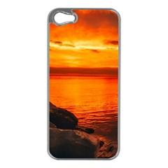 Alabama Sunset Dusk Boat Fishing Apple Iphone 5 Case (silver) by BangZart
