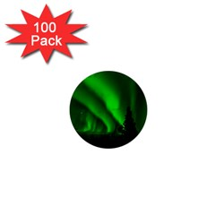 Aurora Borealis Northern Lights 1  Mini Buttons (100 Pack)