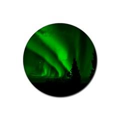 Aurora Borealis Northern Lights Rubber Coaster (round)