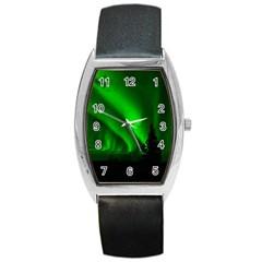 Aurora Borealis Northern Lights Barrel Style Metal Watch