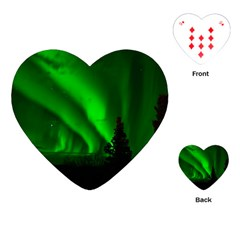 Aurora Borealis Northern Lights Playing Cards (heart)