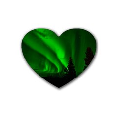 Aurora Borealis Northern Lights Heart Coaster (4 Pack)
