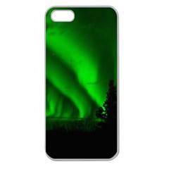 Aurora Borealis Northern Lights Apple Seamless Iphone 5 Case (clear)
