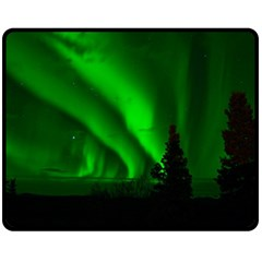 Aurora Borealis Northern Lights Double Sided Fleece Blanket (medium)  by BangZart